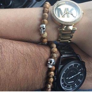 🔴SALE ! Men or women Genuine jasper bead & skull